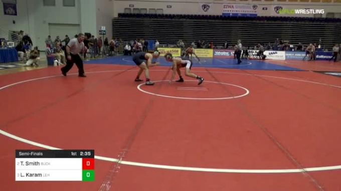 141 lbs Semifinal - Tyler Smith, Bucknell vs Luke Karam, Lehigh