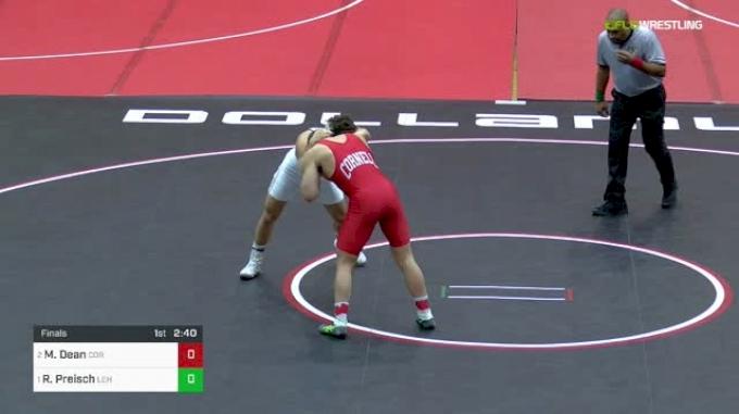 184 lbs Final - Max Dean, Cornell vs Ryan Preisch, Lehigh