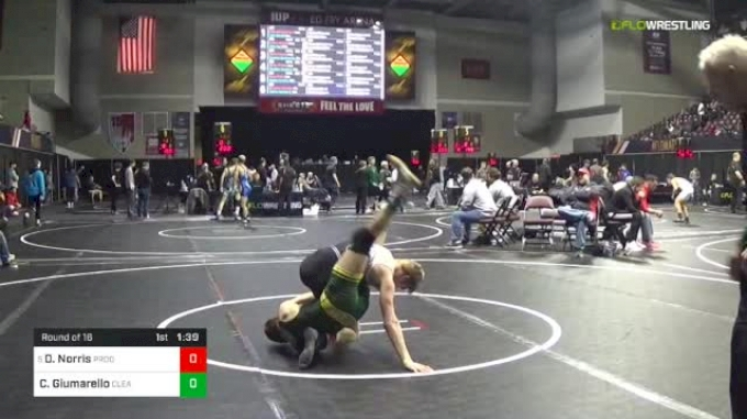 106 lbs Round Of 16 - Dustin Norris, Prodigy Wrestling Academy vs Carmen Giumarello, Clearview