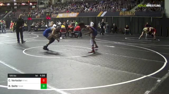 126 lbs Round Of 32 - Christian Vertedor, Bitetto Trained Wrestling vs Blake Saito, Team Miron
