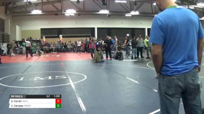 105 lbs Rr rnd 5 - Shea Farrell, Maine Trappers MS vs Caleb Campos, Ncway Ms