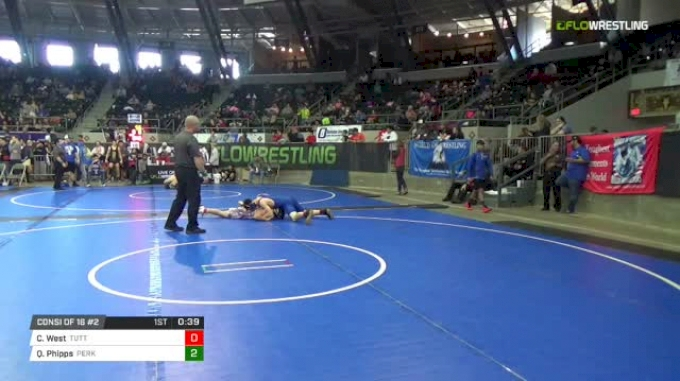 125 lbs Consi of 16 #2 - Canon West, Tuttle Takedown Club vs Quillan Phipps, Perkins Youth Wrestling