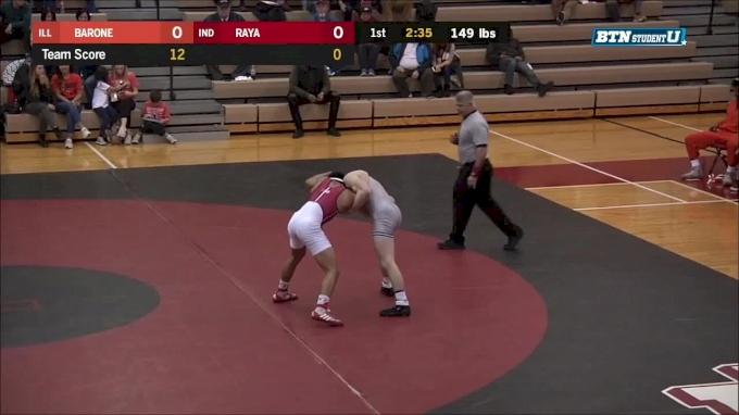 149 lbs m, Eric Barone, Illinois vs Alejandro Raya, Indiana