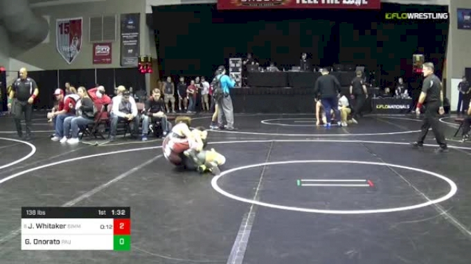 138 lbs Round Of 32 - James Whitaker, Simmons Academy Of Wrestling vs Gabe Onorato, Paulsboro