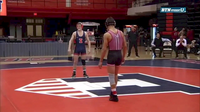141 lbs, Mike Van Brill, Rutgers vs. #12 Mike Carr, Illinois