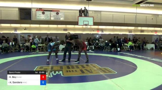77 kg Semifinal - Kamal Bey, Sunkist Kids Wrestling Club vs Kendrick Sanders, Nyac/nmu