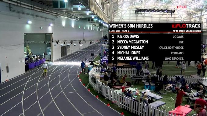 Women's 60m Hurdles, Heat 1