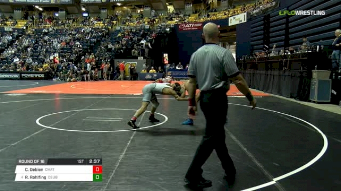 141 lbs Round of 16 - Chris Debien, Chattanooga vs Russell Rohlfing, CSU-Bake