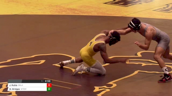 133 lbs Jake Rubio, Oklahoma vs Montorie Bridges, Wyoming