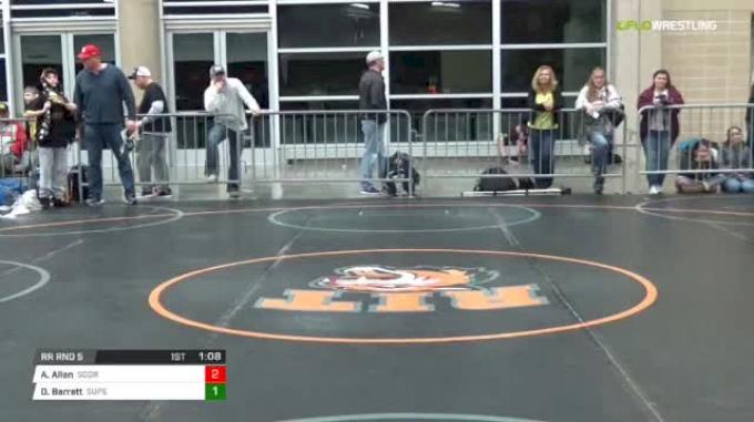 96 lbs Rr rnd 5 - Avery Allen, Scorpions Dynasty Gold MS vs Darrale Barrett, SuperKids-Terps MS