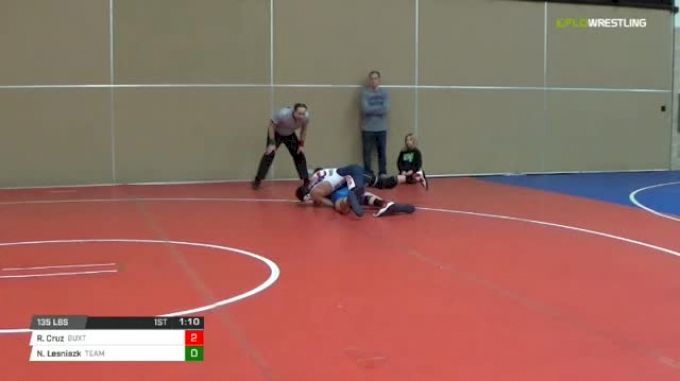135 lbs Rr rnd 5 - Roman Cruz, Buxton Intense Ms vs Nathan Lesniazk, Team Delaware MS