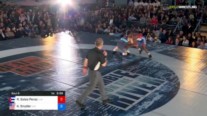 97 kg Rr Rnd 1 - Reineris Salas Perez, Cuba vs Kyle Snyder, USA