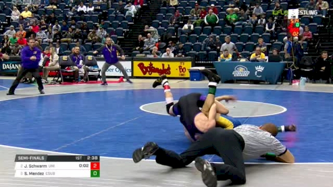 125 lbs Semifinal - Jay Schwarm, Northern Iowa vs Sergio Mendez, CSU-Bake