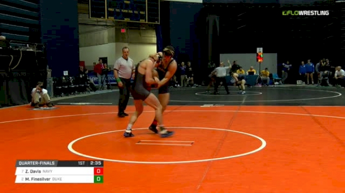 157 lbs Quarterfinal - Zack Davis, Navy vs Mitch Finesilver, Duke
