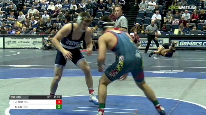 157 lbs Round of 16 - Jason Nolf, Penn State vs Cam Coy, Virginia