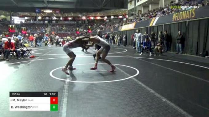 152 lbs Round Of 32 - Max Maylor, Sarbacker Wrestling Academy vs Donnell Washington, Portage Wrestling Club