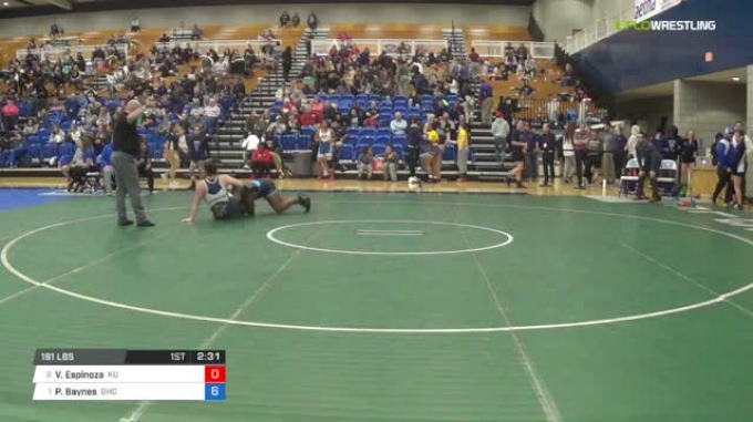 191 lbs Quarterfinal - Victoria Espinoza, King University W vs Paige Baynes, Grays Harbor College