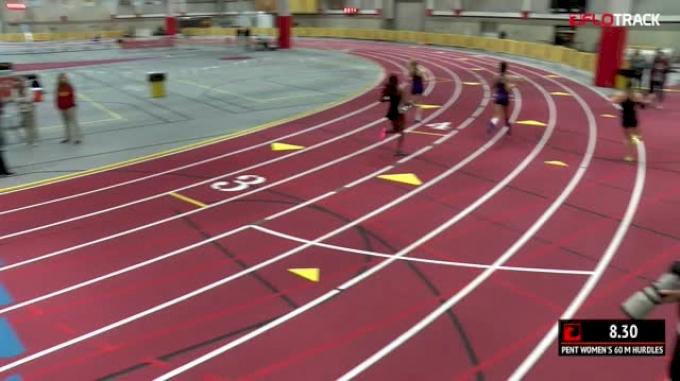 Women's Pentathlon 60m Hurdles, Heat 4