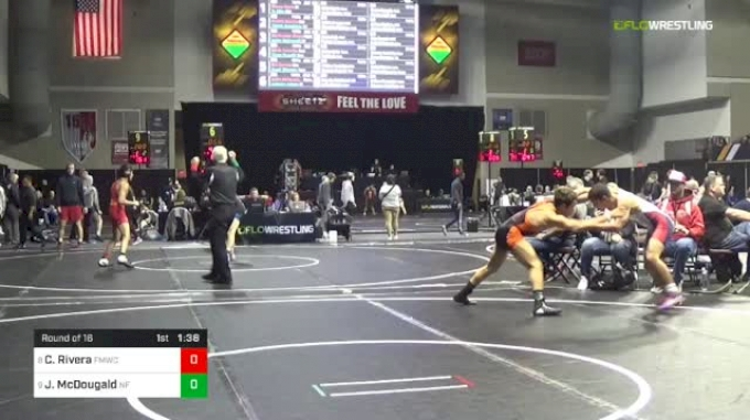 126 lbs Round Of 16 - Christopher Rivera, FORT MYERS WC vs Justin McDougald, Niagara Falls
