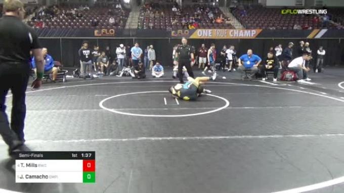 126 lbs Semifinal - Ty Mills, Brownsburg Wrestling Club vs Jakob Camacho, Empire Wrestling Academy