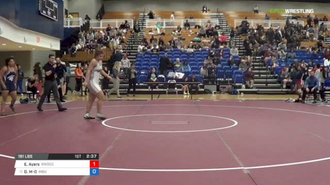 191 lbs Consi of 8 #1 - Ebony Ayers, Southwestern Oregon CC vs Darcie Manning-O'Brien, Missouri Baptist University