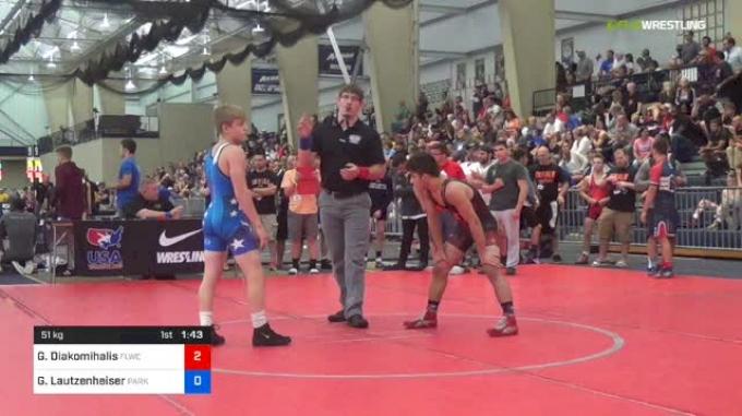 51 R16 - Greg Diakomihalis, FLWC vs Garett Lautzenheiser, Parkview