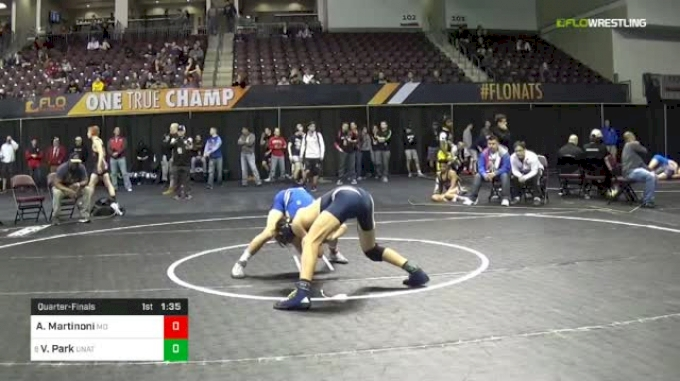 126 lbs Quarterfinal - Angelo Martinoni, Mad Dawg Wrestling Club vs Val Park, Unattached