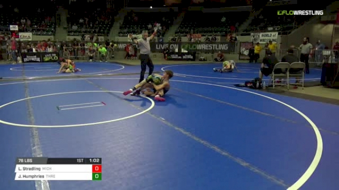 76 lbs Round of 16 - Louden Stradling, Michigan West vs Jaxson Humphries, Threestyle Wrestling