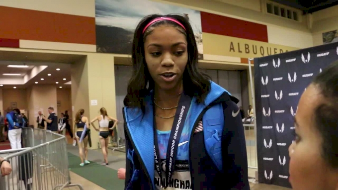 Vashti Cunningham jumps 1.97m to win another US title