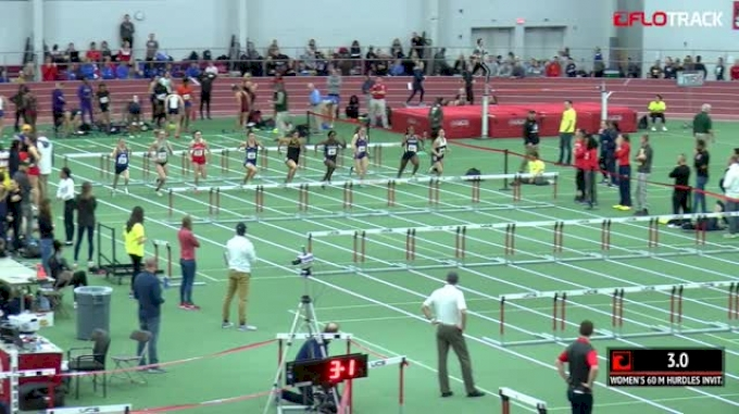 Women's 60m Hurdles Invitational, Heat 1