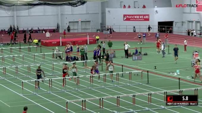 Men's 60m Hurdles, Heat 3