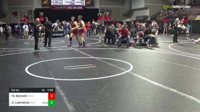 152 lbs Round Of 16 - Nick Bennett, Hornet Nest vs Zack Lawrence, Journeymen