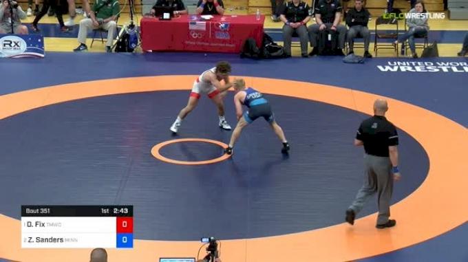 57 kg Final - Daton Fix, Titan Mercury Wrestling Club vs Zach Sanders, Minnesota Storm