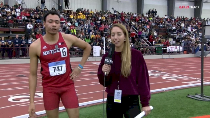 Izaiah Brown Overcomes Injuries To Defend His Big 10 400m Title