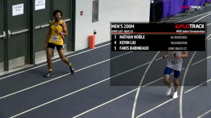 Men's 200m, Heat 10