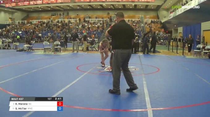 143 lbs Quarterfinal - Kayla Marano, Emanuel College vs Shamera McTier, Missouri Valley College