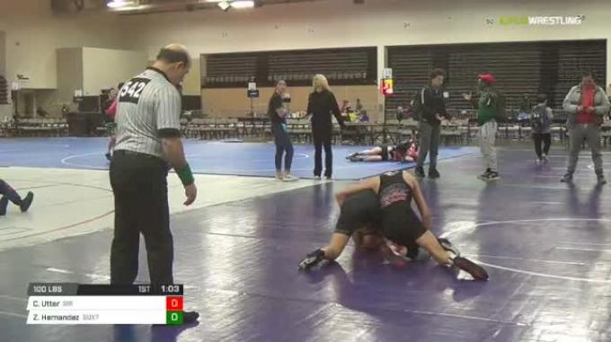 100 lbs Rr rnd 5 - Clayton Utter, Sir Ms vs Zavier Hernandez, Buxton Redbeards Ms