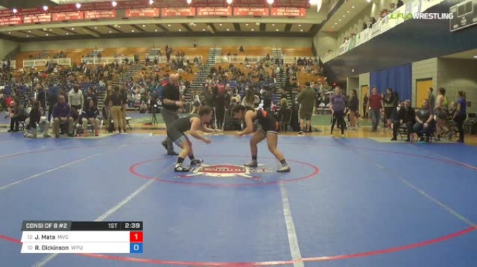 136 lbs Consi of 8 #2 - Julia Mata, Missouri Valley College vs Regina Dickinson, Warner Pacific University