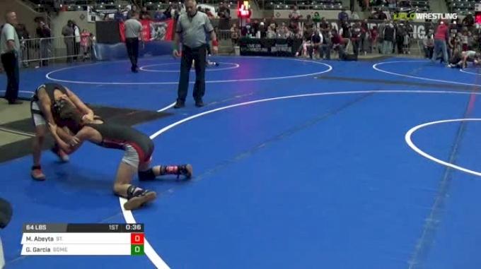 64 lbs Round of 16 - Marcus Abeyta, St. Jude Fire vs Grayson Garcia, Gomez Wrestling Academy (GWA)