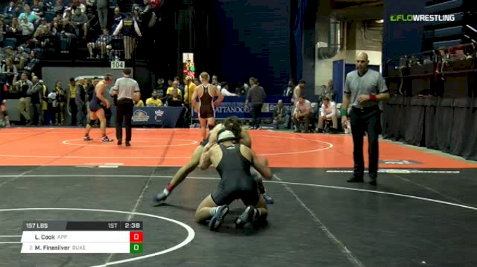 157 lbs Round of 16 - Laken Cook, Appalachian State vs Mitch Finesilver, Duke