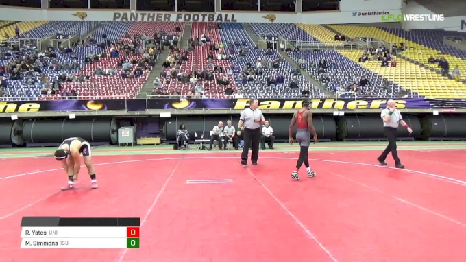 133 lbs Final, Rudy Yates, UNI vs Markus Simmons, Iowa State