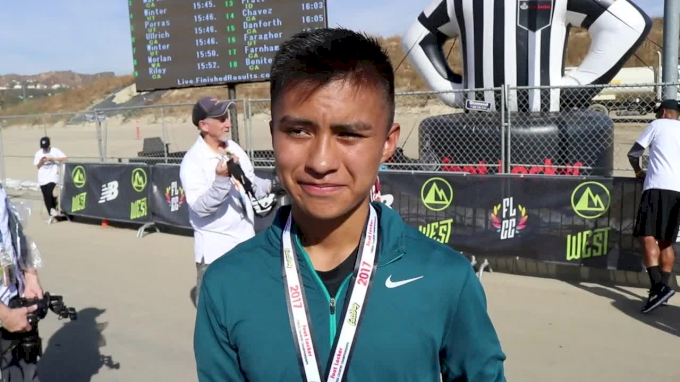 Kashon Harrison of New Mexico after Foot Locker West victory