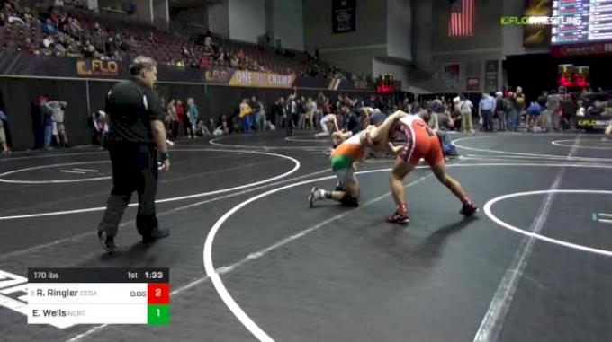 170 lbs Round Of 16 - Ryan Ringler, Cedar Springs vs Edward Wells, Northern York