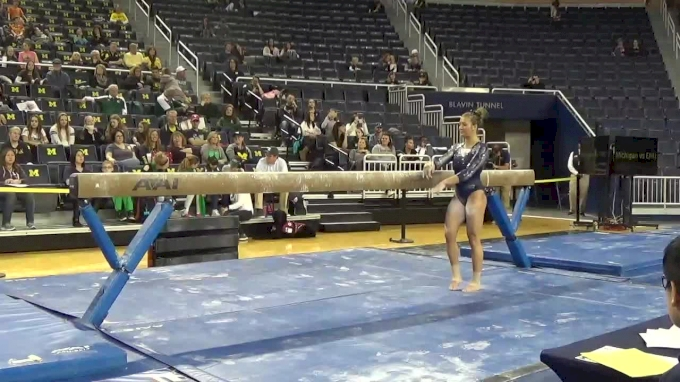 Olivia Karas- Beam (9.775), Michigan- 2017 Michigan vs. EMU Intersquad