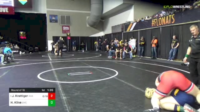 182 lbs Round Of 16 - Jared Krattiger, Askren Wrestling Academy vs Honour Kline, Goodrich Wrestling