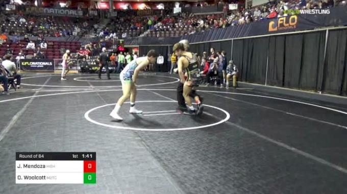 120 lbs Round Of 64 - Joseph Mendoza, Higher Level Wrestling vs Owen Woolcott, M2TC