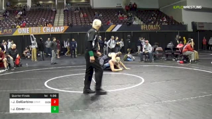 285 lbs Quarterfinal - Jack DelGarbino, Girard vs Jacob Cover, Hilliard Darby