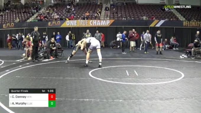 160 lbs Quarterfinal - Colton Denney, Heritage Hall High School vs Austin Murphy, Elder