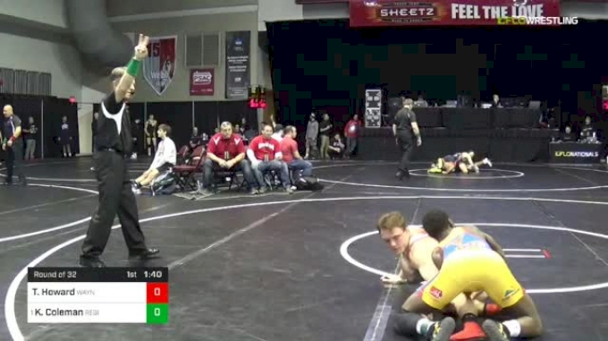 145 lbs Round Of 32 - Trey Howard, Waynesburg vs Kendall Coleman, Region Wrestling Academy