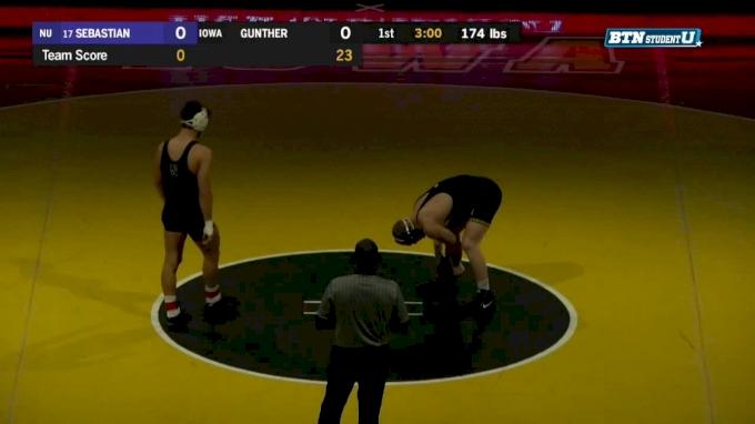 174 lbs m, Johnny Sebastian, Northwestern vs Kaleb Young, Iowa